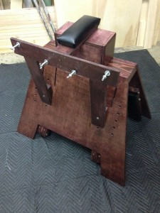 Pillory attachment for spanking bench